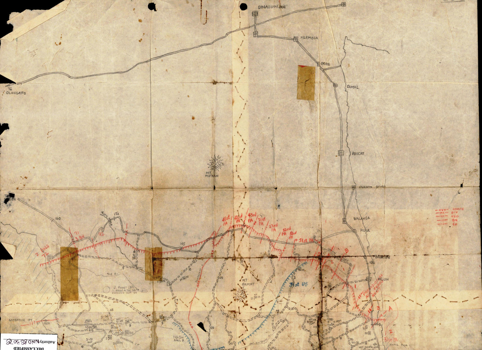 Maps and Sketches in Bataan Photo